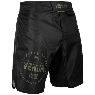 Шорты Venum Signature Fightshorts Black/Khaki (01738) фото 4