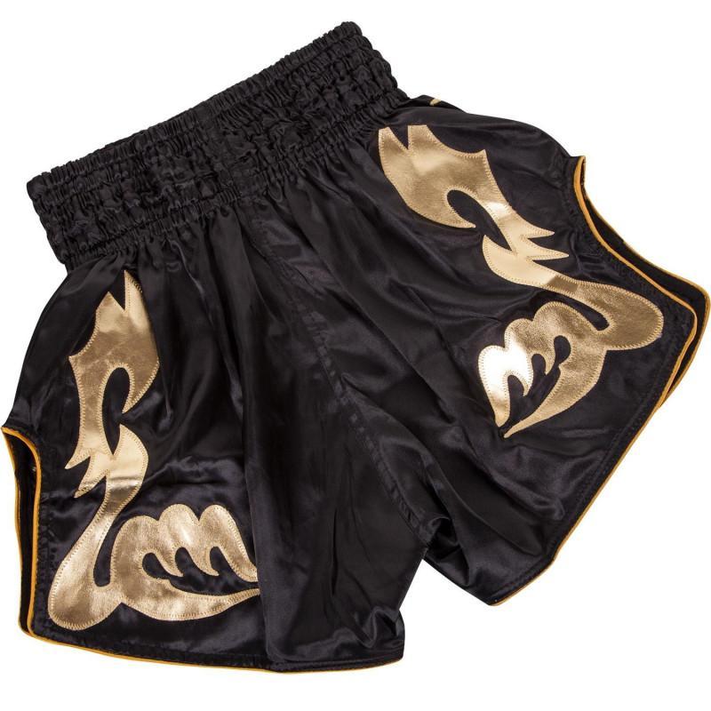Шорты Venum Bangkok Inferno Muay Thai Black/Gold (02046) фото 2