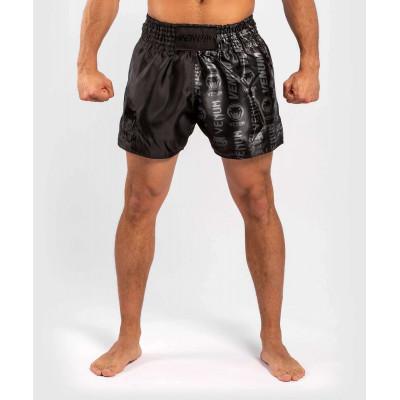 Шорти Venum Logos Muay Thai Shorts Black/Black (02142) фото 1
