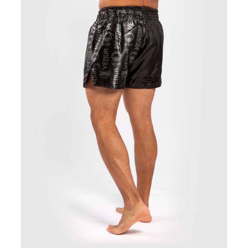 Шорти Venum Logos Muay Thai Shorts Black/Black (02142) фото 2