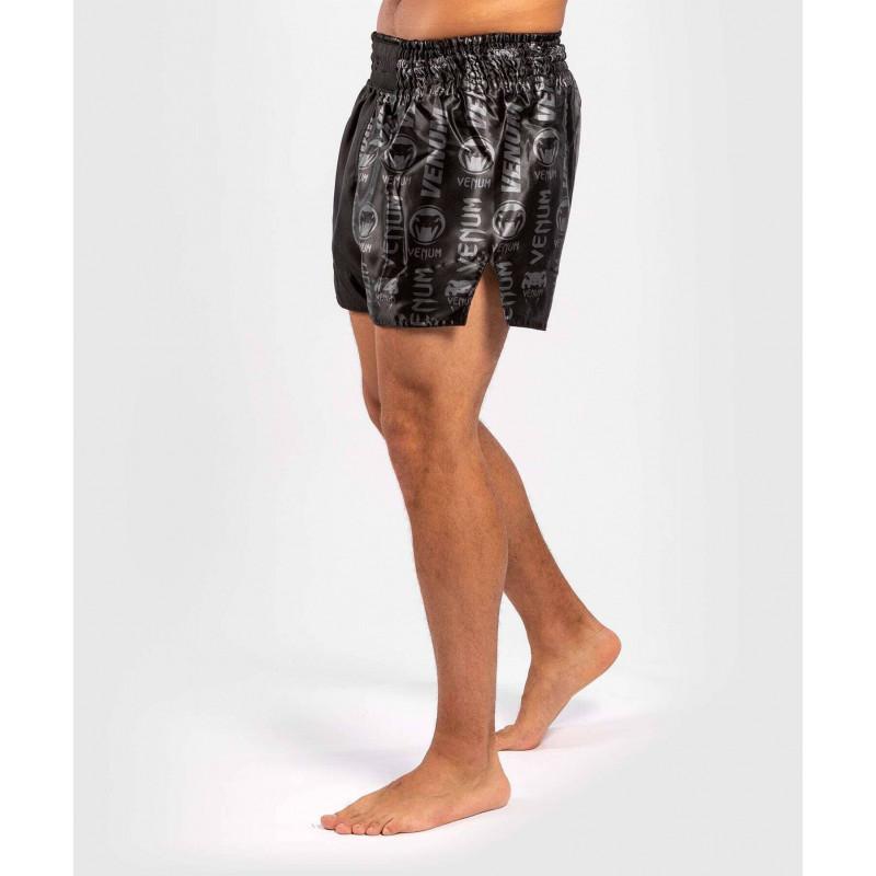 Шорти Venum Logos Muay Thai Shorts Black/Black (02142) фото 3
