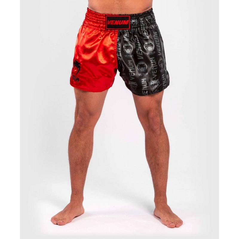 Шорти Venum Logos Muay Thai Shorts Black/Red (02141) фото 1