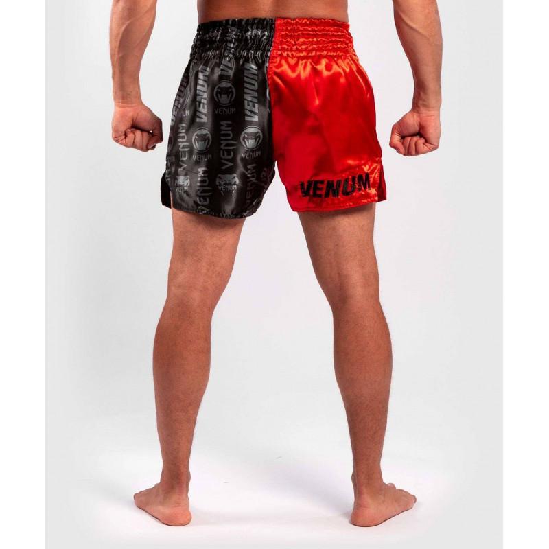 Шорти Venum Logos Muay Thai Shorts Black/Red (02141) фото 2
