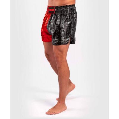 Шорти Venum Logos Muay Thai Shorts Black/Red (02141) фото 3