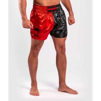 Шорти Venum Logos Muay Thai Shorts Black/Red (02141) фото 4