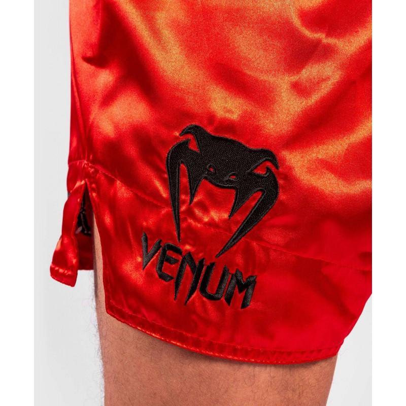 Шорти Venum Logos Muay Thai Shorts Black/Red (02141) фото 6