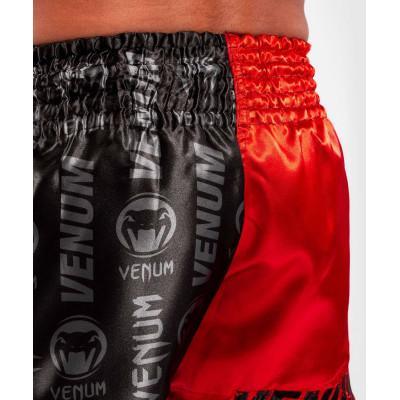 Шорти Venum Logos Muay Thai Shorts Black/Red (02141) фото 7