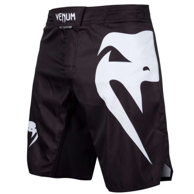 Шорты Venum Light 3.0 Fightshorts Чёрно-белые (01815)