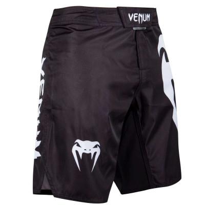 Шорты Venum Light 3.0 Fightshorts Чёрно-белые (01815) фото 3