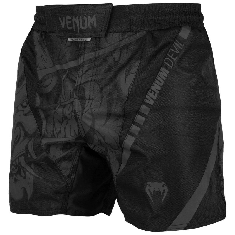 Шорты Venum Devil Fightshorts Black/Black (01993) фото 3