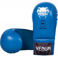 Перчатки Venum Karate Mitts Blue WKF