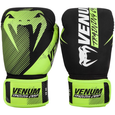 Перчатки Venum Training Camp 2.0 Boxing Black/Neo (01748)
