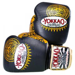 Перчатки YOKKAO Velcro BLACK/GOLD MAUI
