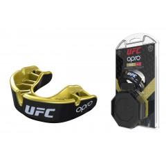 Капа OPRO Gold UFC Hologram Black Metal/Gold