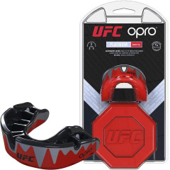 Капа OPRO Platinum UFC Hologram Red Metal/Black