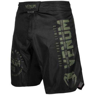 Шорты Venum Signature Fightshorts Black/Khaki (01738)