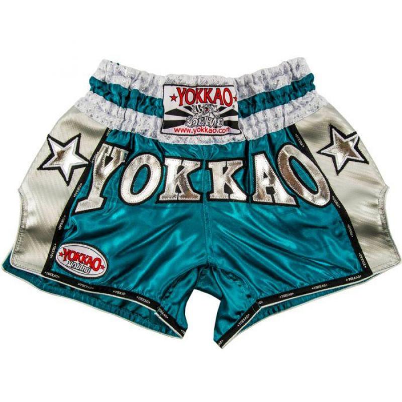 Шорти YOKKAO Вінтажні шорти муай-тай сині (01774) фото 1