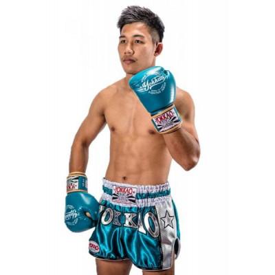 Шорты YOKKAO Vintage Muay Thai shorts blue (01774) фото 2