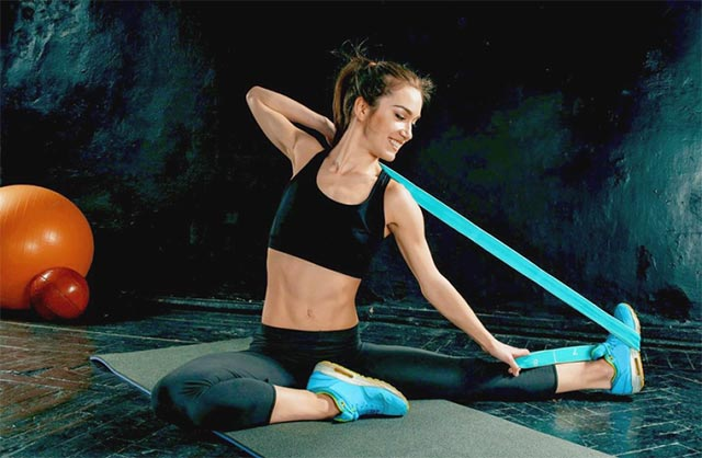 Лента-эспандер (резинка) эластичная для фитнеса