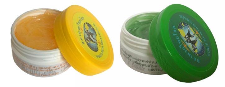 Тайские бальзам желтый и зеленый